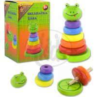 HM Studio Studo Wood Skládačka barevné kroužky Žába