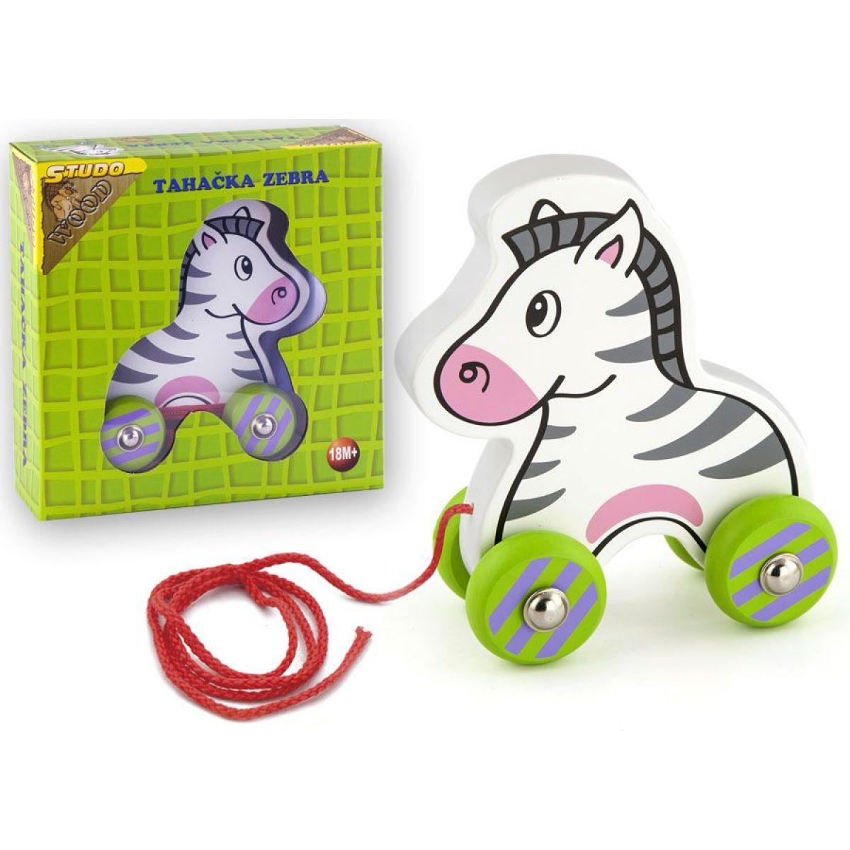 HM Studio Studo Wood Tahací zebra