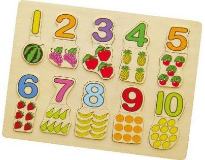 HM Studio Studo Wood Vkládačka čísla a ovoce