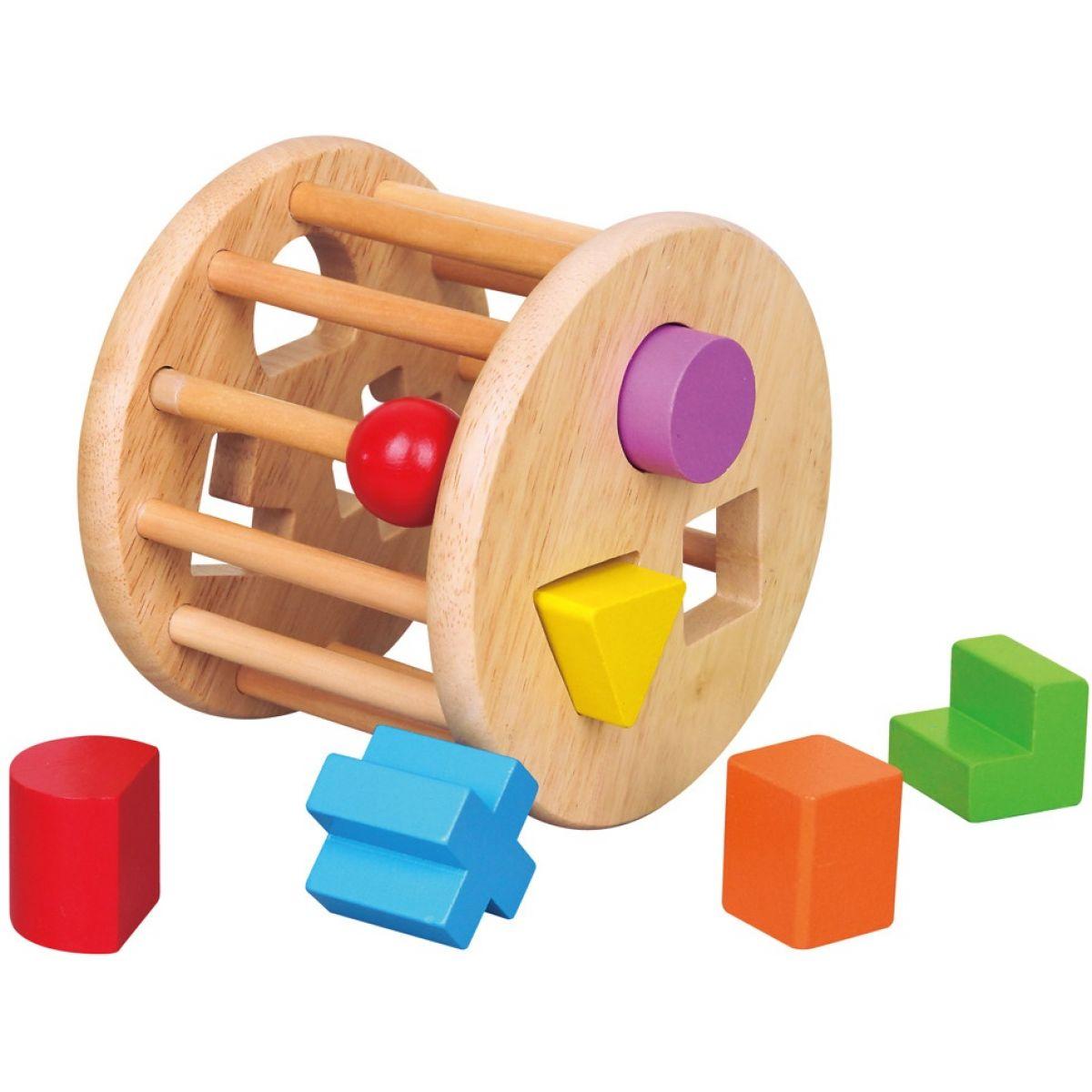 Studo Wood Dřevěná vkládačka tvary kolo