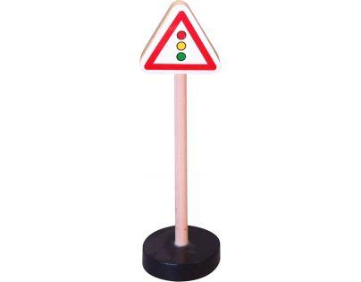 HM Studio Studo Wood Značka Pozor semafor