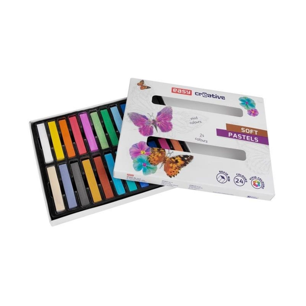 Easy Suché pastelky 24 barev