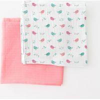 Summer Infant SwaddleMe mušelínová přikrývka 2ks růžová ptáčci
