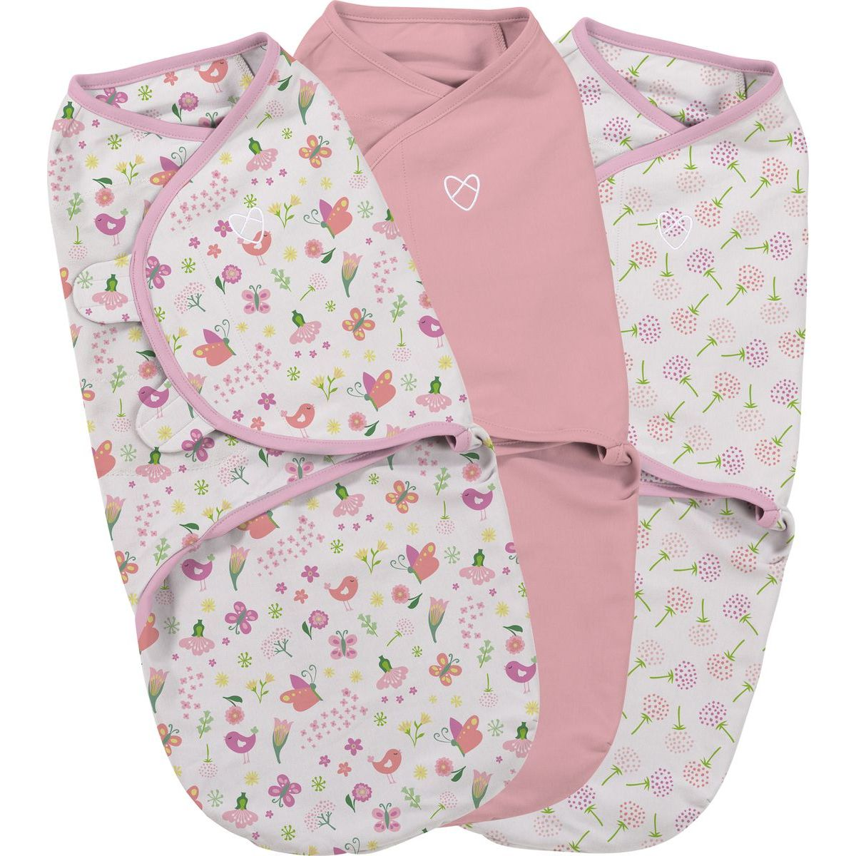 Summer Infant Zavinovačka SwaddleMe růžová sada 3ks