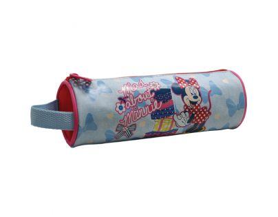 Sun Ce Disney Minnie Kulatý penál - světle modrý