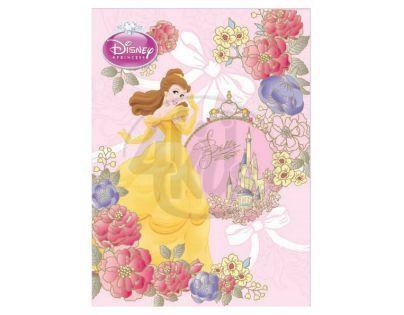 Sun Ce Disney Princezny Neprůhledný obal s linkovaným sešitem 60 listů