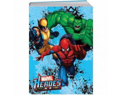 Sun Ce Marvel Heroes Školní sešit s obalem se 60 listy
