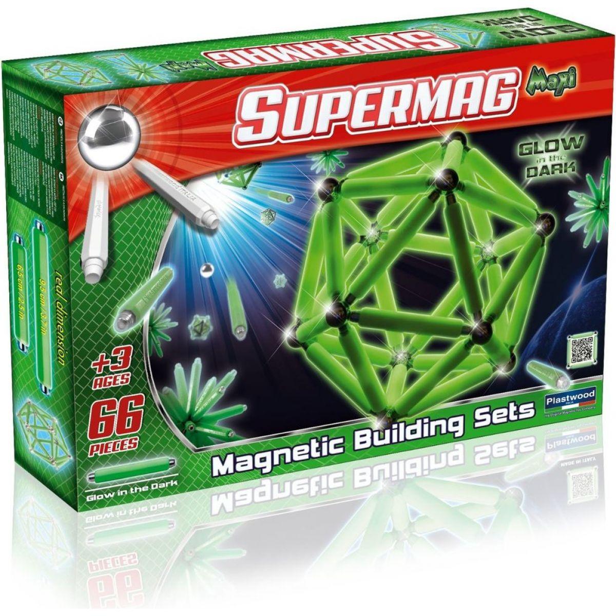 Supermag Maxi fosforeskující 66 dílků