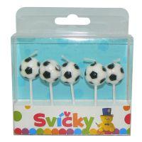 HM Studio Svíčky na dort fotbalové míče 5 ks