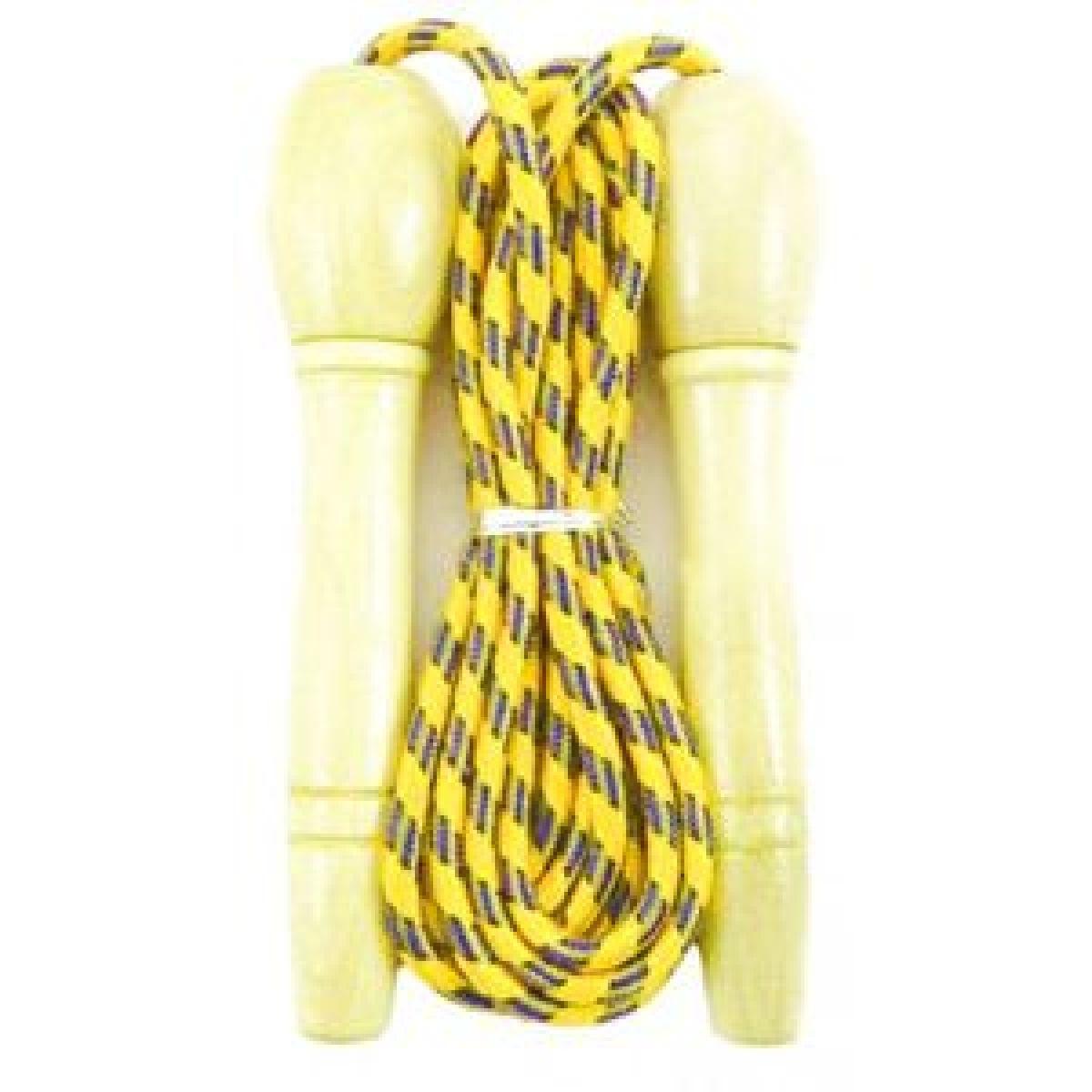 Švihadlo 270 cm s drevenou rukoväťou nastaviteľné žlté