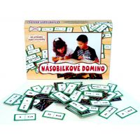 Voltík 34650146 - Násobilkové domino společenská hra na baterie (60ks)