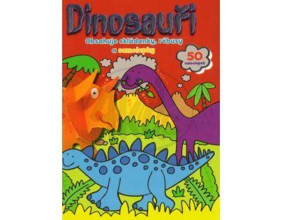 Svojtka Dinosauři Skládanky, rébusy, samolepky