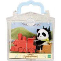 Sylvanian Families Baby příslušenství - panda, méďa a veverka si hrají doma - Panda 2