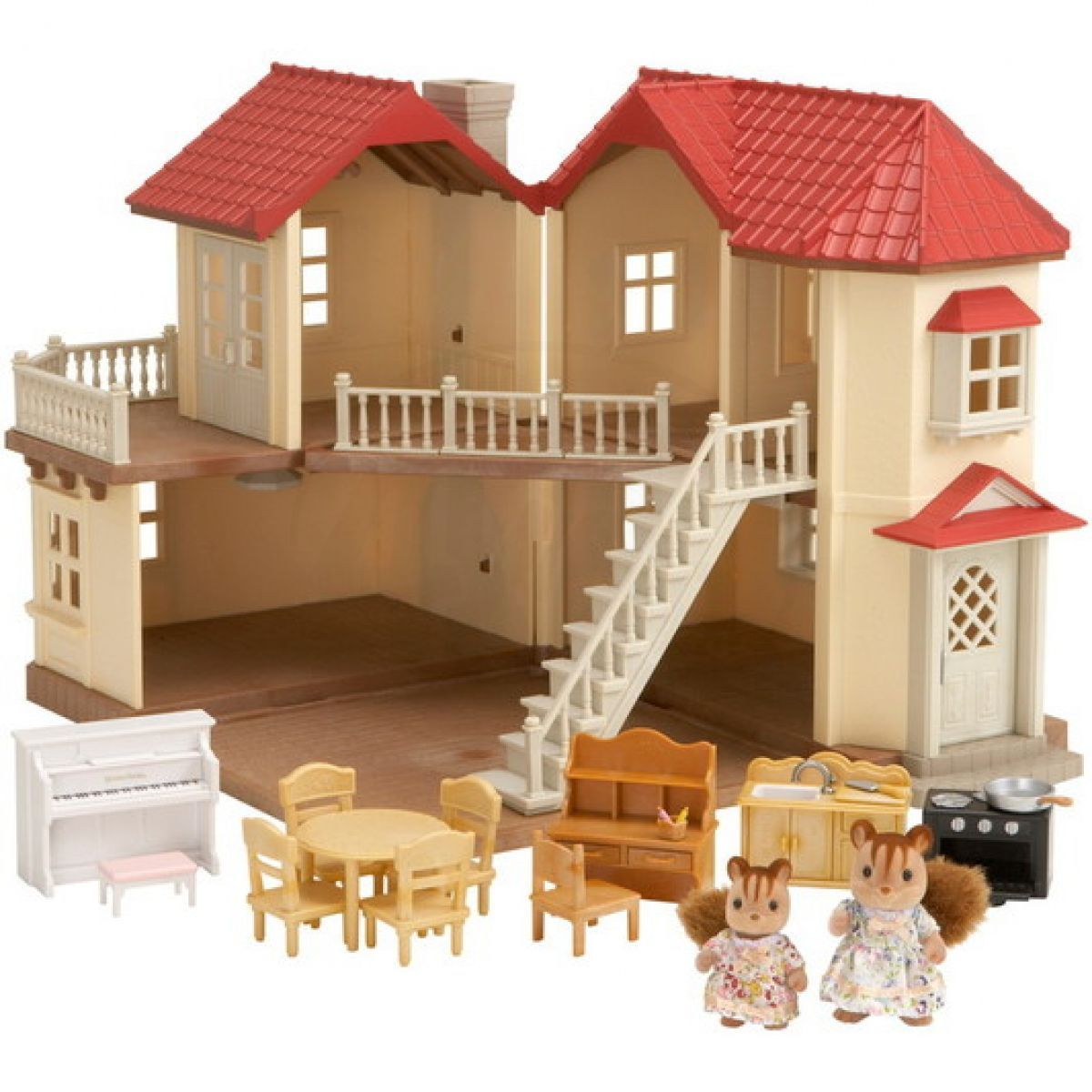Sylvanian Families Dárkový set Městský dům se světly a příslušenstvím D