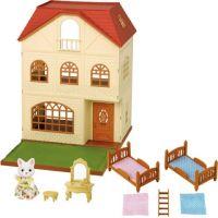 Sylvanian Families Dárkový set - Třípatrový dům s příslušenstvím a figrukou B - Poškozený obal