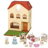 Sylvanian Families Dárkový set Třípatrový dům s příslušenstvím a figurkami A
