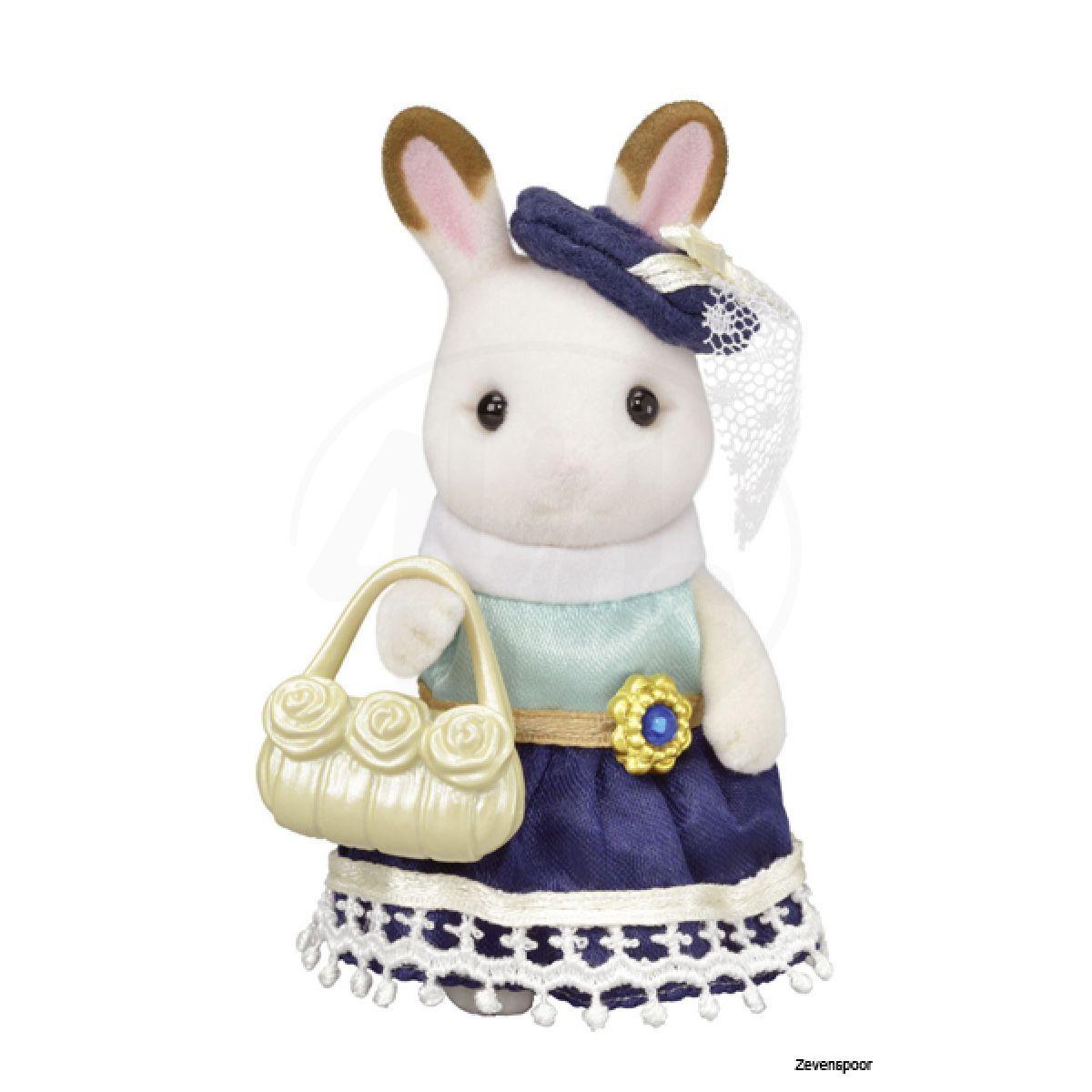 Sylvanian Families Město chocolate králičice se žlutou kabelkou