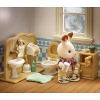 Sylvanian families Nábytek chocolate králíků - bratr a umývárna 4