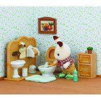 Sylvanian families Nábytek chocolate králíků - bratr a umývárna 5