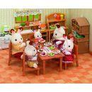 Sylvanian families Nábytek - jídelní stůl se židlemi 2