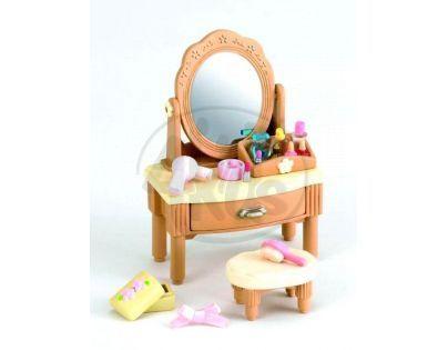 Sylvanian families Nábytek - zrcadlový stolek se židličkou