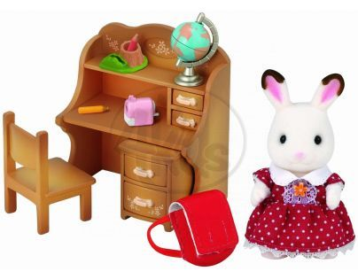 """Sylvanian families Nábytek """"chocolate"""" králíků - sestra u psacího stolu"""