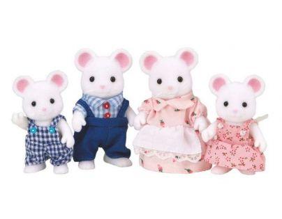 Sylvanian families - Rodina bílých myšek