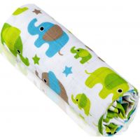 T-tomi Bambusová BIO osuška 1 ks Zelení sloni