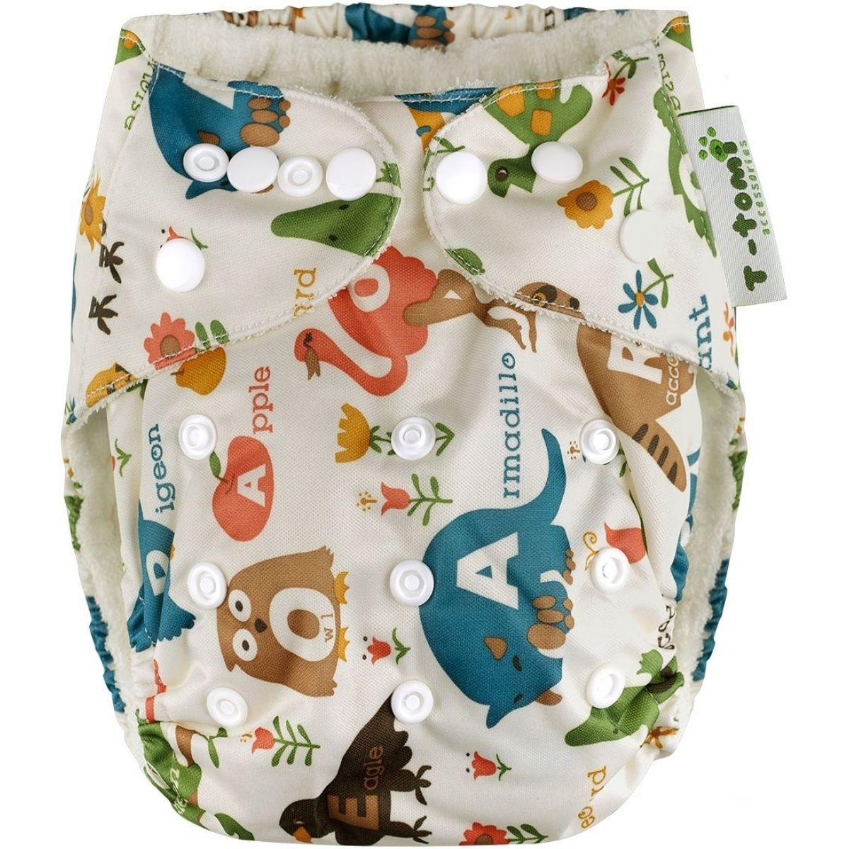 T-tomi Bambusová kalhotková plena AIO 1 ks Bílá safari