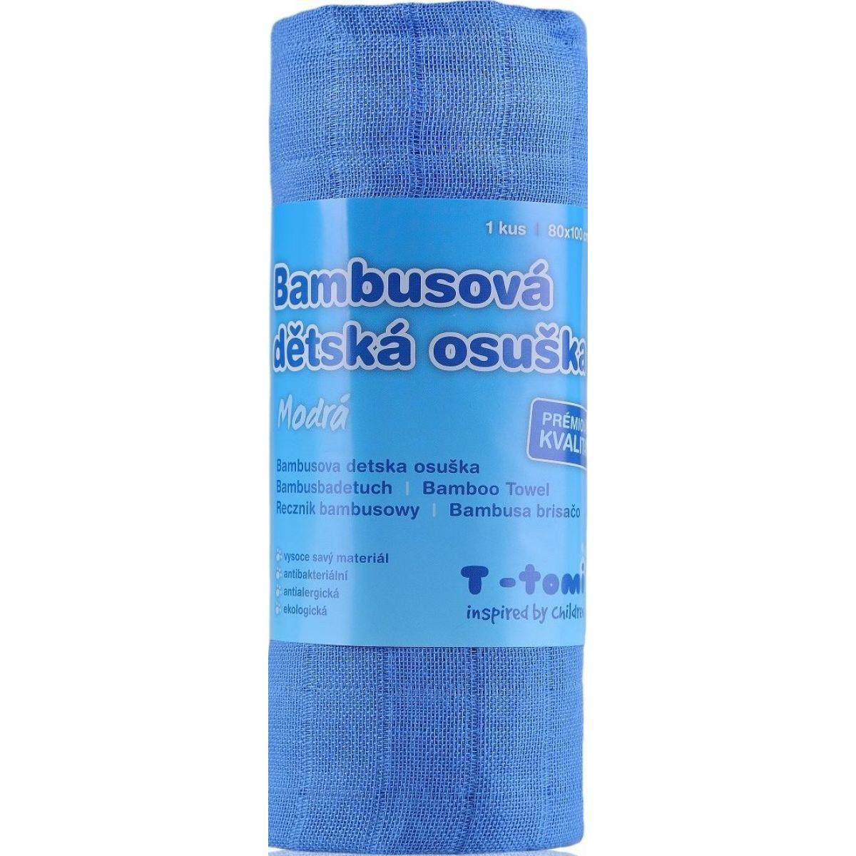T-tomi Bambusová osuška 1 ks Modrá