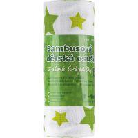 T-tomi Bambusová osuška 1 ks Zelené hvězdičky