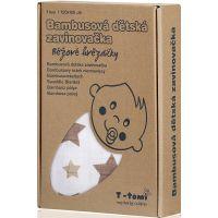T-tomi Bambusová zavinovačka 1 ks Béžové hvězdičky