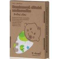 T-tomi Bambusová zavinovačka 1 ks Zelení sloni