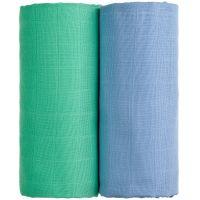 T-tomi Látkové TETRA osušky, sada 2 ks, modrá + zelená
