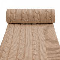 T-tomi Pletená deka, 1 ks, béžová