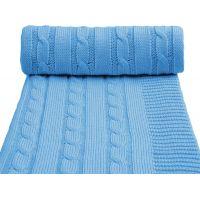 T-tomi Pletená deka, 1 ks, modrá