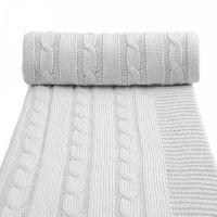 T-tomi Pletená deka, 1 ks, šedá
