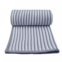 T-tomi Pletená deka, bílo - šedá