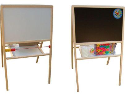 Toy Tabule školní oboustranná magnetická s hodinami