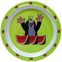 MÚ Krteček Talíř 21cm Krtek - meloun