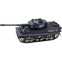 Tank plastový 28cm na baterie se světlem a zvukem tm. modrý