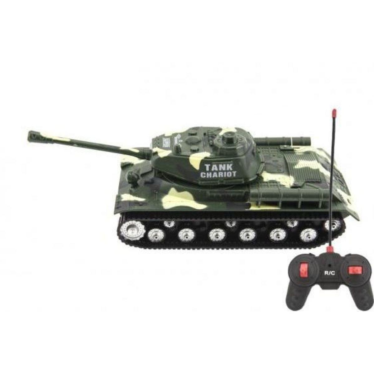 Tank RC PANTHER na dálkové ovládání plast 25cm Zelený