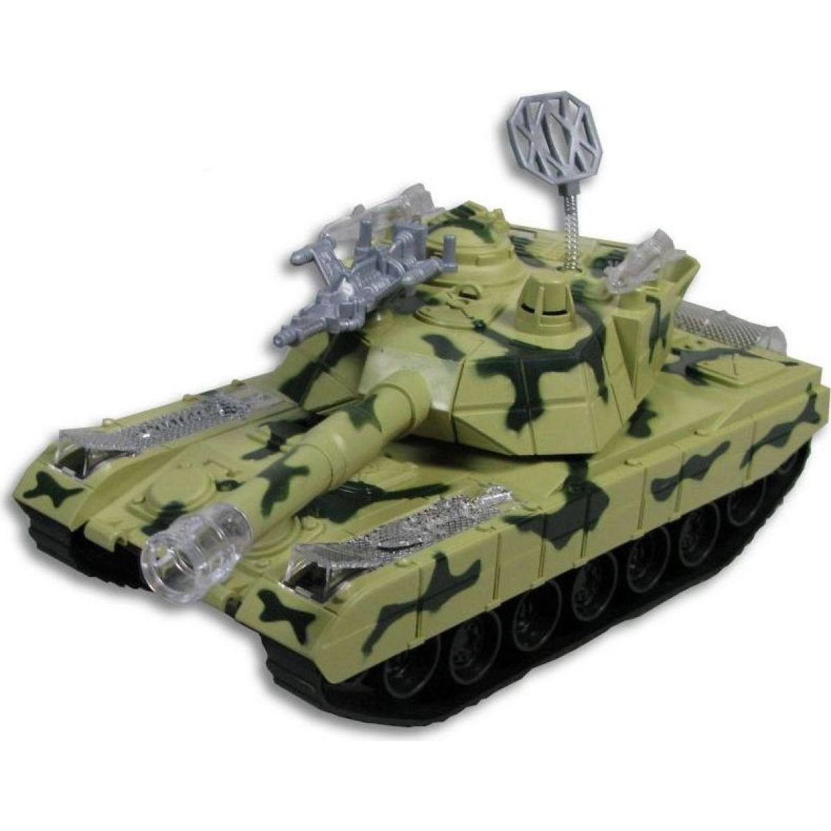 Made Tank se světlem a hudbou na baterie - Zelená
