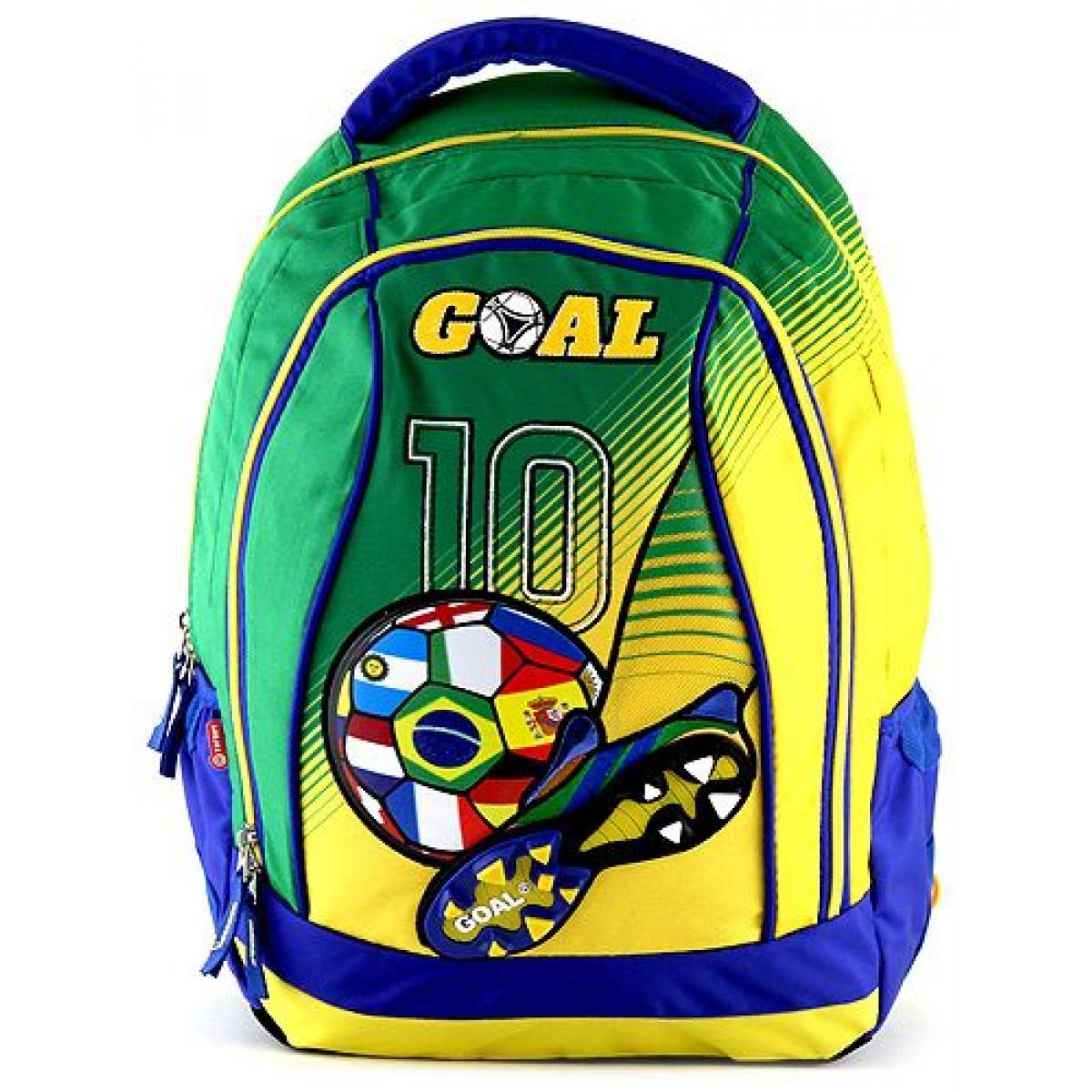 Target Batoh dětský Fotbal žlutozelený