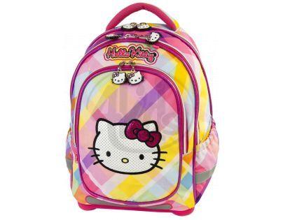 Target Hello Kitty Batoh růžovo/žlutý s kostkami
