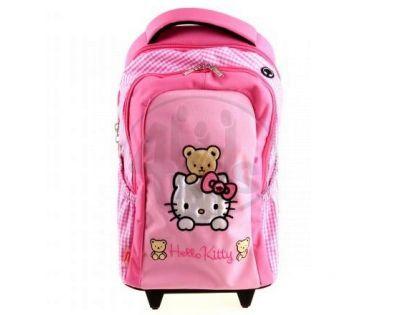 Target Hello Kitty Batoh s kolečky růžový/kostička