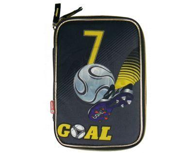 Target Penál Fotbal šedo černo zlatý Plně vybavený