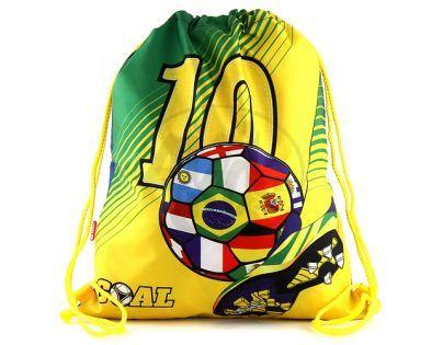 Target Taška na přezůvky Fotbal žluto zelený
