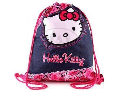 Target Hello Kitty Taška na přezůvky růžovo/džínová