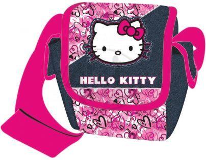 Target Hello Kitty Taška přes rameno růžovo džínová